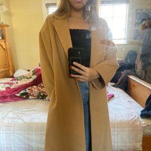 Topshop Camel Long Coat